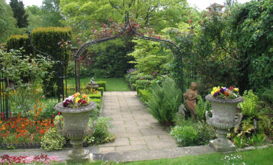 Period garden at Stockwood Park, Luton, Bedfordshire