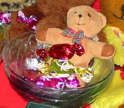 Pitmans Shorthand Christmas Carols: Cheery Ted with Christmas sweets