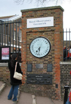 Greenwich Park - Royal Observatory Shepherd Gate Clock and standard measurements