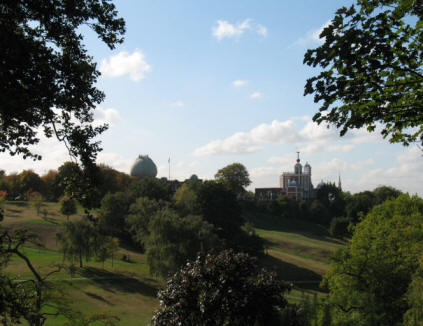 Greenwich Park - View from One Tree Hill to Observatory