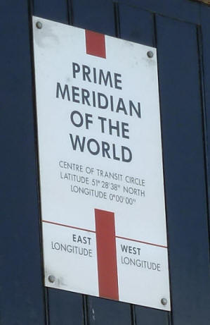 Greenwich Park - Meridian House - Prime Meridian plaque