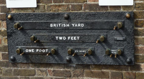 Greenwich Park - Royal Observatory - standard measurements plaque