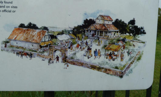 Greenwich Park - Roman remains - illustration on noticeboard