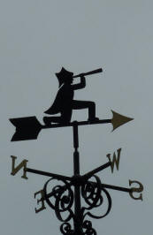 Greenwich Park - Pavilion Tea House - weathervane of Admiral Lord Nelson