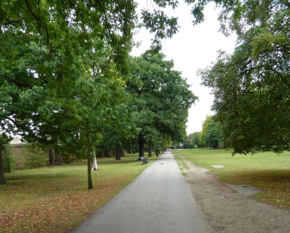 Greenwich Park - view along path parallel to Maze Hill