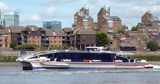 Greenwich - Thames Clipper catamaran